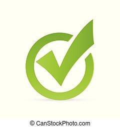 assegno, illustrazione, marchio