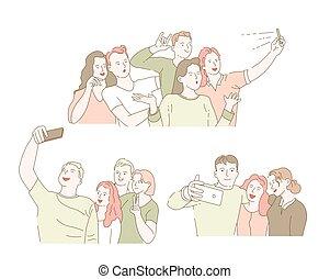 assemblea, smartphone, compagni classe, amici, presa,...