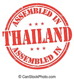 Assembled in Thailand sign or stamp