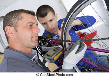 assembling the bike