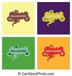 assembly flat icons halloween sign