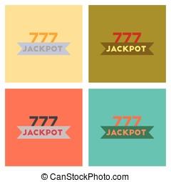 assembly flat icons poker jackpot Lucky seven