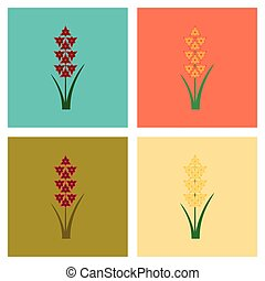 assembly flat Illustrations flower gladiolus - assembly of...