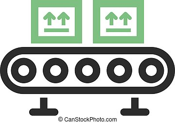 Assembly Line - Line, factory, assembly icon vector image....