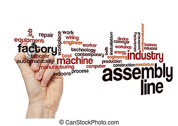 Assembly line word cloud concept