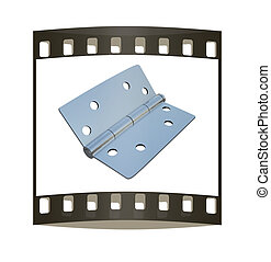 assembly metal hinges. The film strip