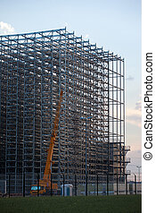 Assembly of storage rack warehouse - Assembly of steel...