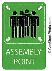 Assembly Point Sign