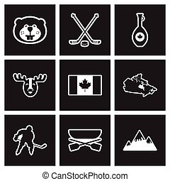 assembly stylish black and white icons Canada