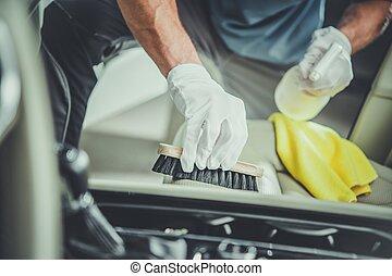 assentos carro, limpeza