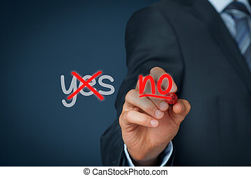 Assertiveness concept. The most successful person know how to say no.