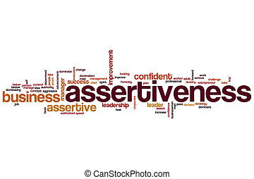 Assertiveness word cloud concept