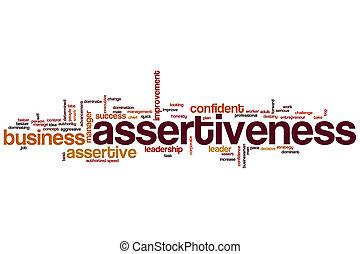 assertiveness, wort, wolke