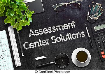 Assessment Center Solutions Concept. 3D render. - Business...