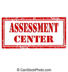 Assessment Center-stamp - Grunge rubber stamp with text...