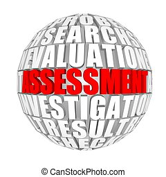 Assessment. - circle words on the ball on the topics