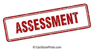 assessment stamp. square grunge sign on white background - ...