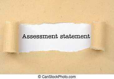 Assessment statement