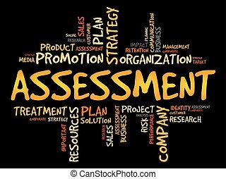 ASSESSMENT word cloud collage