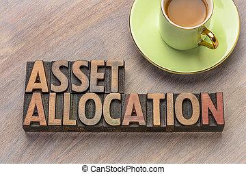 asset allocation in letterpress wood type