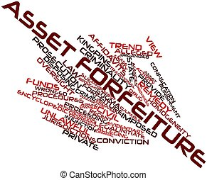 Asset forfeiture - Abstract word cloud for Asset forfeiture...