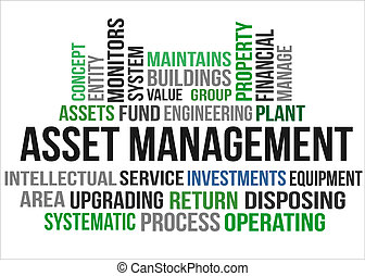 ASSET MANAGEMENT - A word cloud of Asset management related...