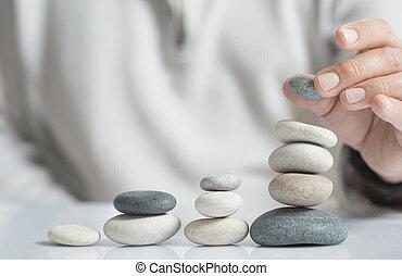 Asset Management Concept - Horizontal image of a man...