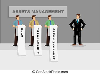 Asset Management for Business Cartoon Vector Illustration -...