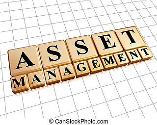 asset management in golden cubes - asset management - text...