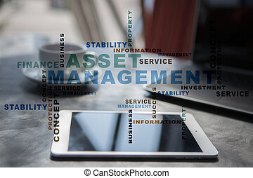 Asset management words cloud.