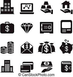 asset / money / Treasure icons Set