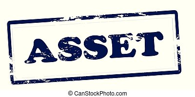 Asset - Rubber stamp with word asset inside, vector...