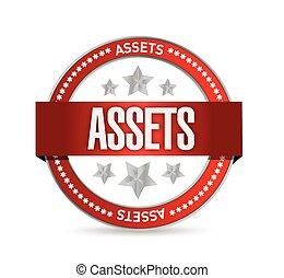 assets seal illustration design