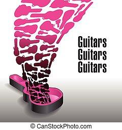 assez, jamais, guitares