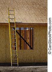 assi, scala, luogo, giallo, costruzione, ruvido