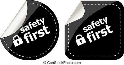 assicurare, serratura, segno, etichetta, sicurezza