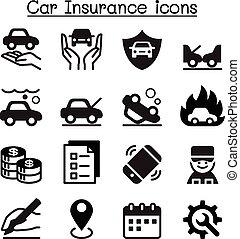 assicurazione automobile, icone