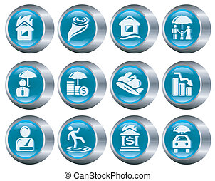 assicurazione, bottoni