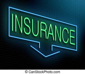 assicurazione, concept.