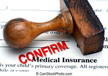 assicurazione medica, confermare