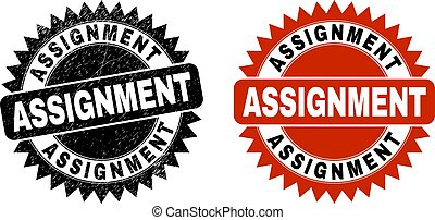 ASSIGNMENT Black Rosette Watermark with Unclean Texture