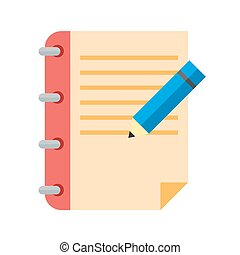 Assignment, book, education icon vector image. Can also be used for education, academics and science. Suitable for use on web apps, mobile apps and print media.