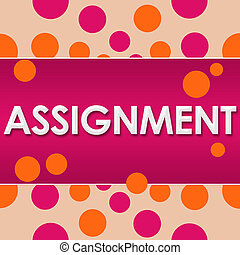 Assignment Pink Orange Dots