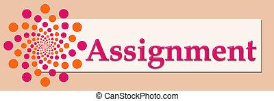 Assignment Pink Orange White