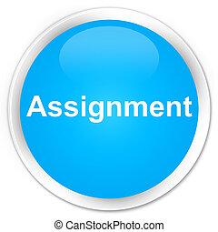 Assignment premium cyan blue round button
