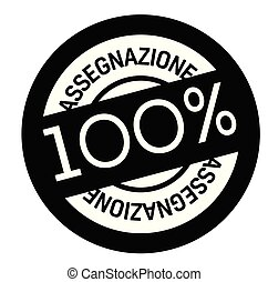 assignment stamp in italian