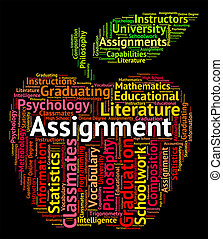 Assignment Word Indicates Home Work And Exercises -...