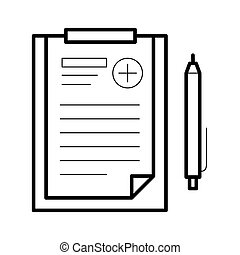 Assignments sheet icon, vector illustration