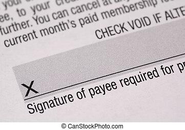 assinatura, 2