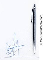 assinatura, fictitious